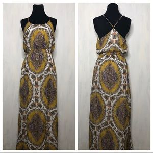 Anthro Akemi Kin Medallion Maxi Dress S 0119
